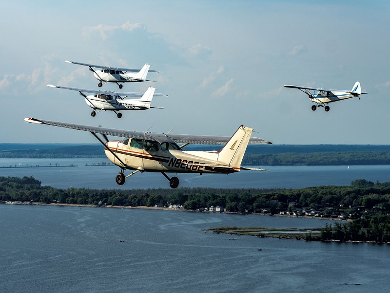 Beta Technologies' flying formation - ERIC ADAMS; COURTESY OF BETA TECHNOLOGIES