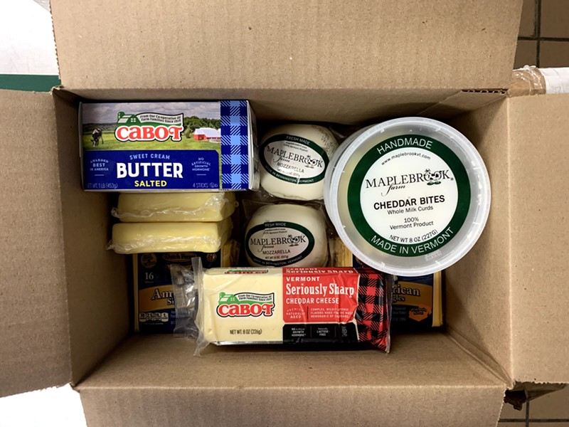 Vermont dairy in the Farmers to Families food boxes - COURTESY ABBEY GROUP