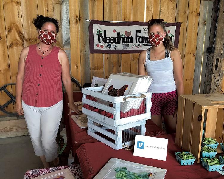 Kristen (left) and Eileen Needham of Needham Family Farm - JORDAN BARRY