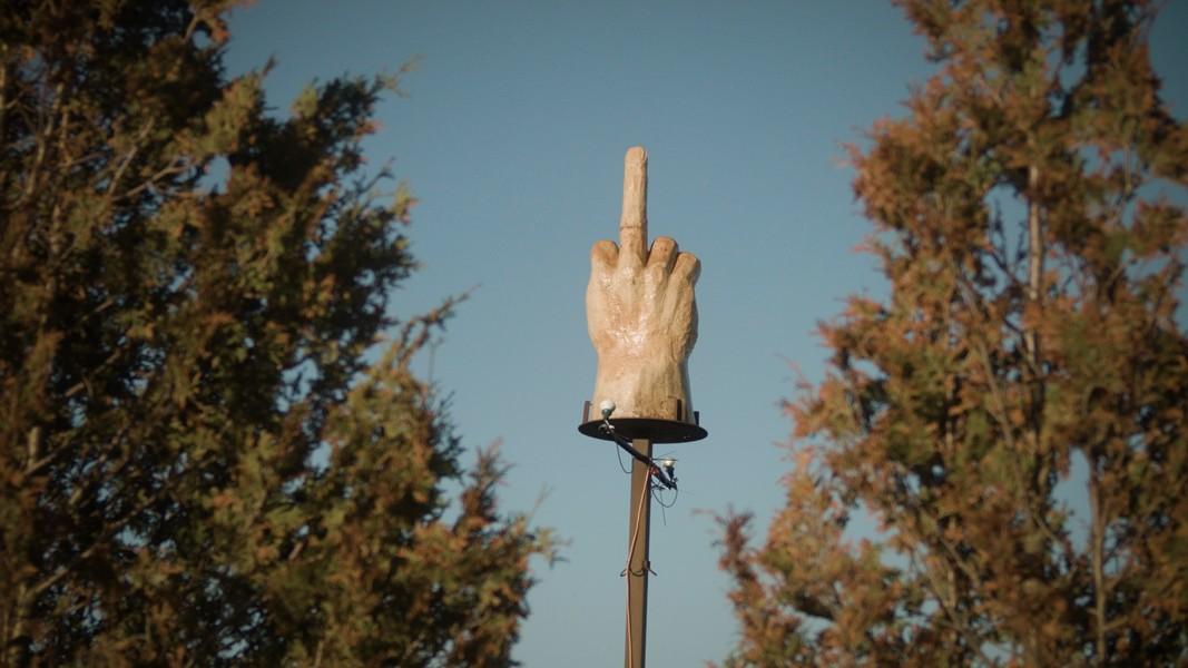 Ted Pelkey's 700-pound sculpture - COURTESY OF GARRET HARKAWIK