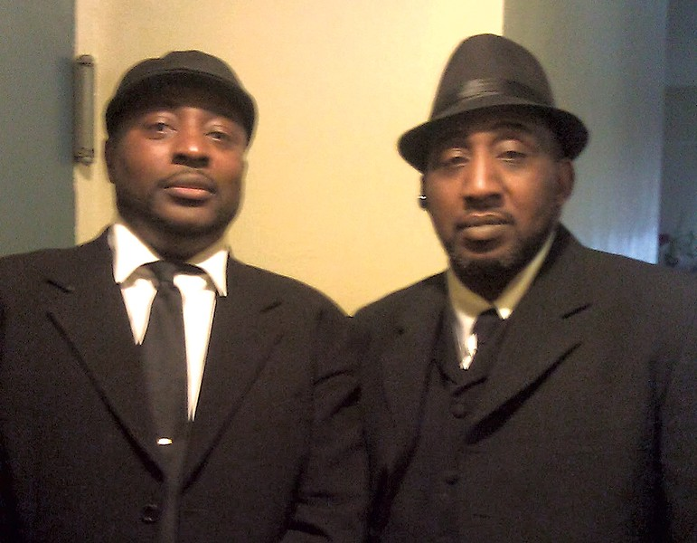 Gilbert Johnson (left) and his late brother, Kenneth Johnson - COURTESY OF GILBERT JOHNSON