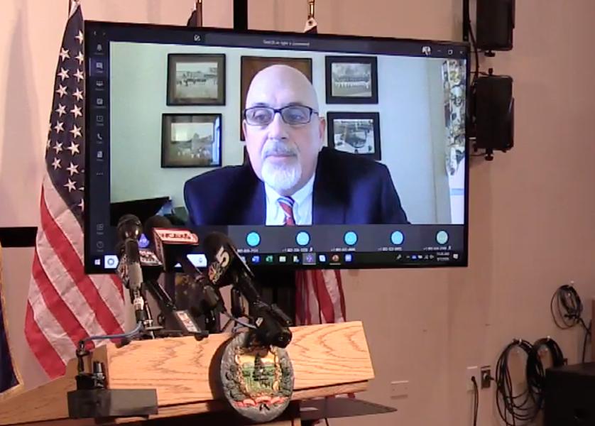 DOC Commissioner Jim Baker - SCREENSHOT OF WCAX