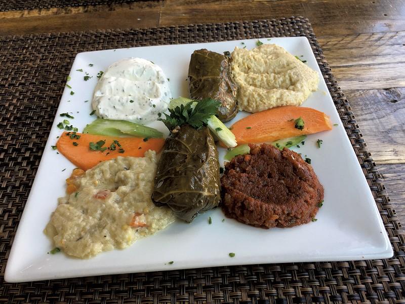 Mezze platter at Tuckerbox - PAMELA POLSTON ©️ SEVEN DAYS