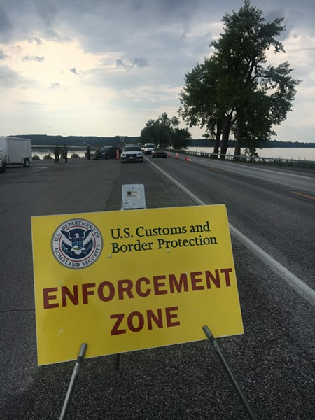 An immigration checkpoint last year - FILE: MATTHEW ROY ©️ SEVEN DAYS