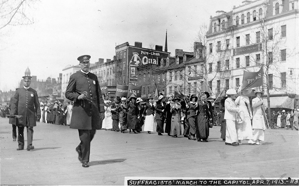 Vermonters marching with suffragists from other states in Washington, D.C., in 1913 - COURTESY OF THE VERMONT HISTORICAL SOCIETY