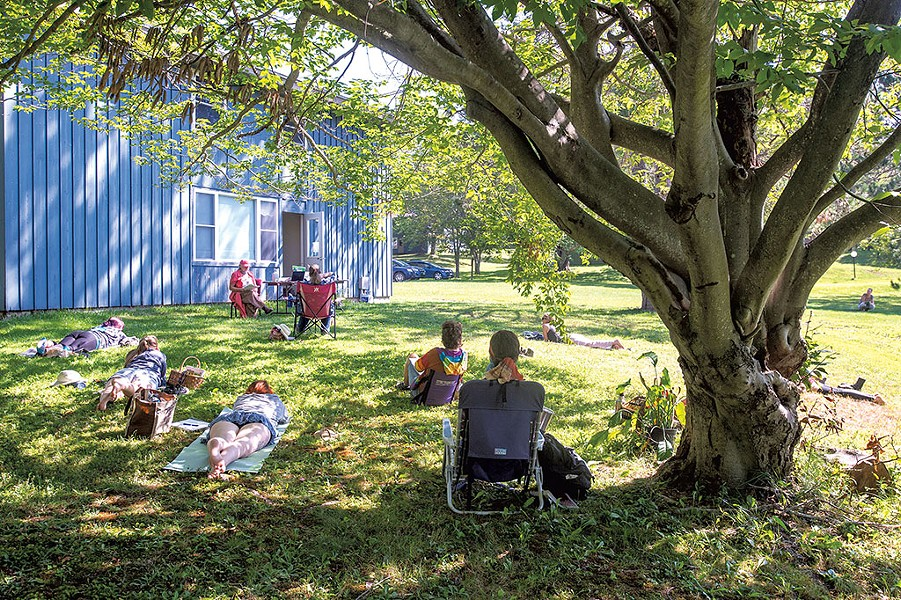 A recent outdoor class at the Vermont Center for Integrative Herbalism in Plainfield - JEB WALLACE-BRODEUR