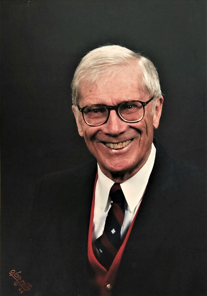 Clem Holden wearing the tie given to him by the Canadian Union of Postal Workers - COURTESY PHOTO