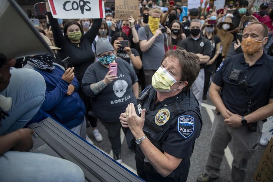 Jennifer Morrison at a protest this summer - FILE: JAMES BUCK
