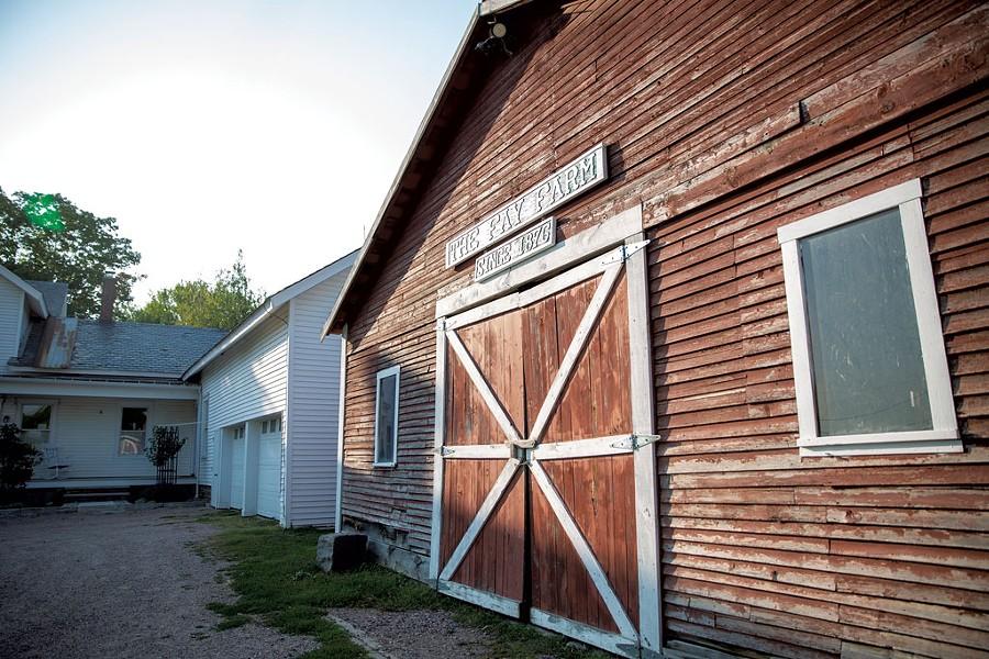 The barn at the Fay family farmhouse in Jericho - JAMES BUCK