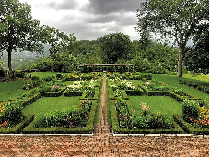 Formal garden - COURTESY OF HILDENE, THE LINCOLN FAMILY HOME