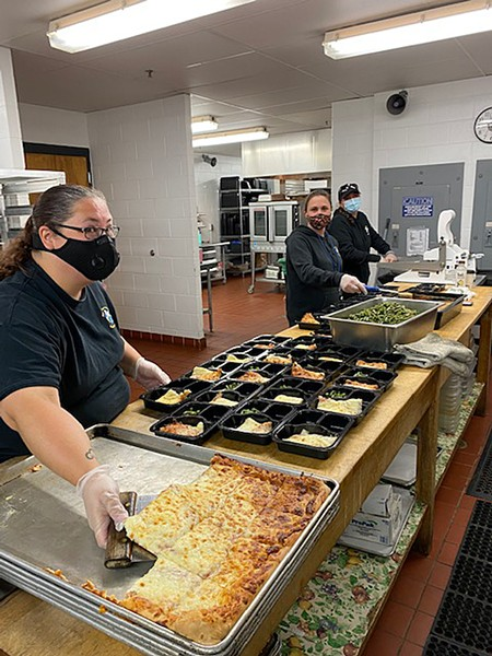 Milton food service workers food service workers preparing meals - COURTESY OF STEVEN MARINELLI