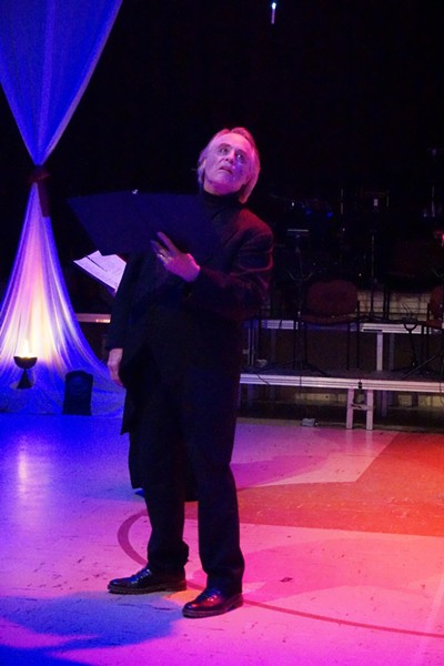 Kim Allen Bent performing 'The Raven' - COURTESY OF LOST NATION THEATER/MIKE FUREY