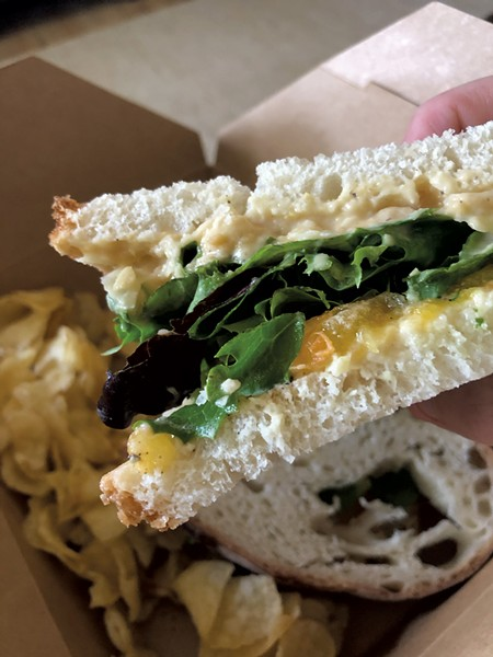 Conscious Eatz's chickpea tuna sandwich - FILE: JORDAN BARRY ©️ SEVEN DAYS