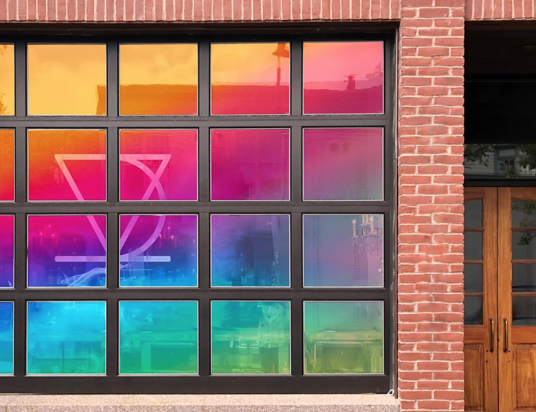 A mock-up of the future Vivid Coffee window at 150 Cherry St. - COURTESY OF VIVID COFFEE