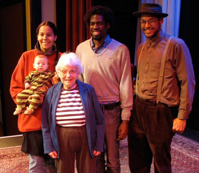 Dena Epstein with the Carolina Chocolate Drops