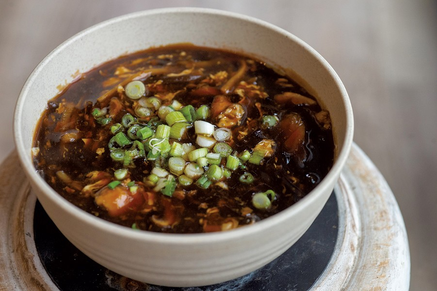Hot-and-sour soup at Umami - JEB WALLACE-BRODEUR
