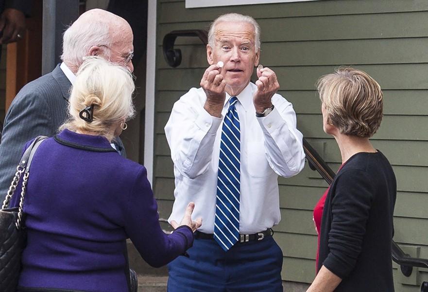 Then-vice president Joe Biden in Burlington in 2016 - POOL: GLENN RUSSELL