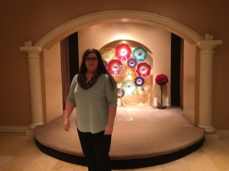 Erin Gilday at the Planet Hollywood Resort & Casino chapel - PAUL HEINTZ
