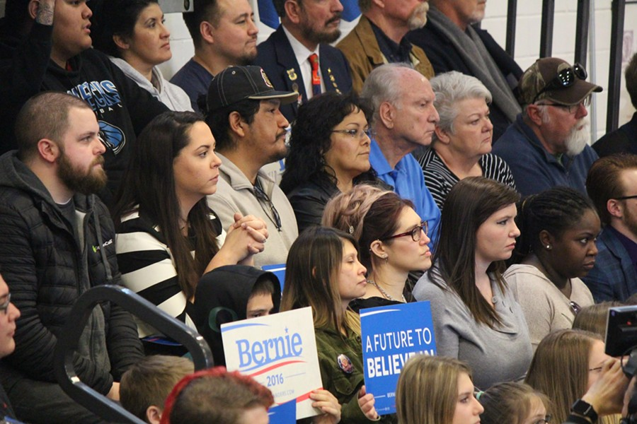 Sanders supporters in Elko, Nevada - PAUL HEINTZ