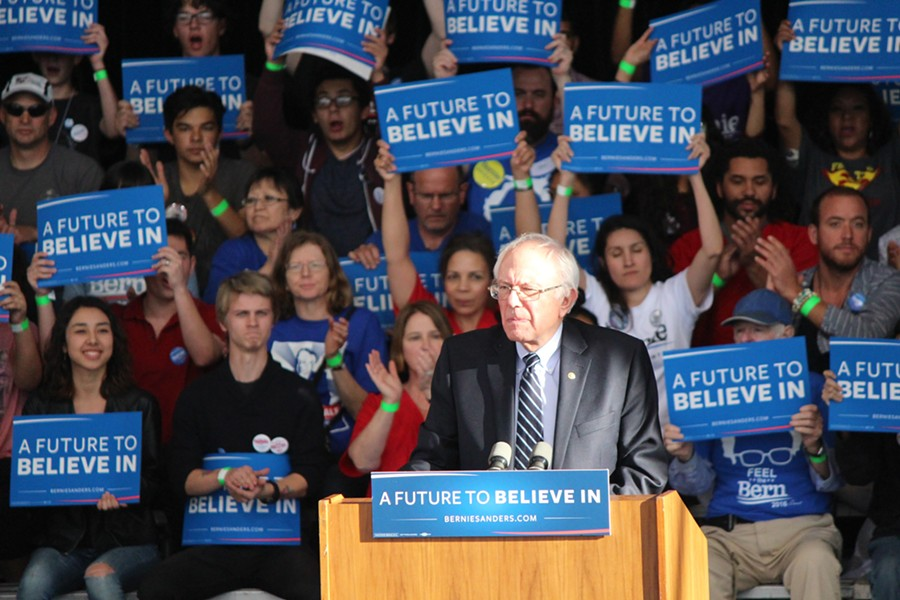Sen. Bernie Sanders concedes the Nevada caucuses Saturday in Henderson. - PAUL HEINTZ