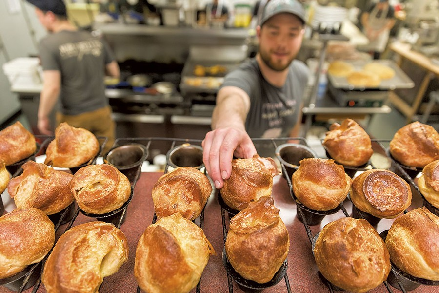 Popovers on display at Mirabelles Café - OLIVER PARINI