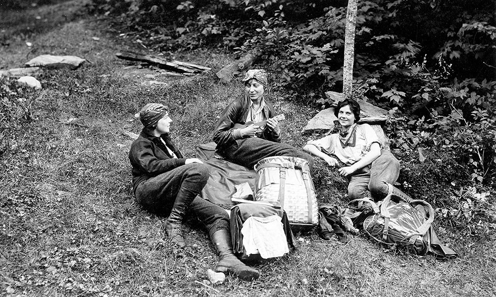 Catherine Robbins, Hilda M. Kurth and Kathleen Norris, 1927 - PHOTOS COURTESY OF WILL D. CHANDLER / VERMONT HISTORICAL SOCIETY ARCHIVES