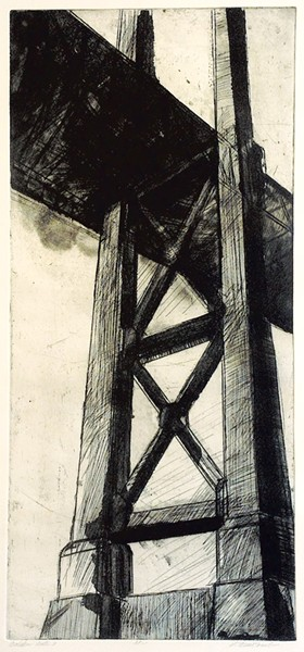 """Golden Gate 3"" by Lynn Newcomb"