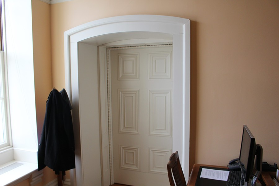 Lt. Gov. Phil Scott's office door - PAUL HEINTZ