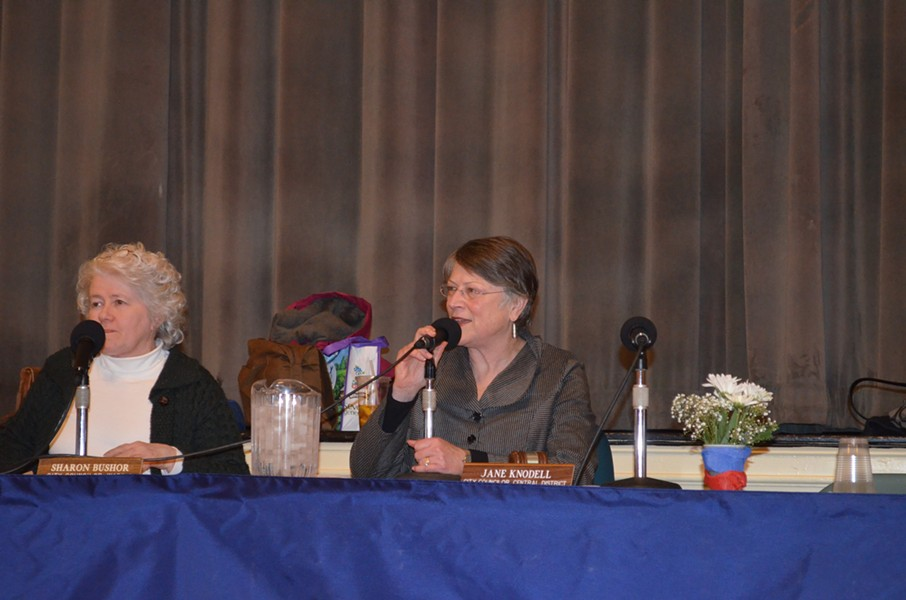 Councilor Jane Knodell, right - ALICIA FREESE