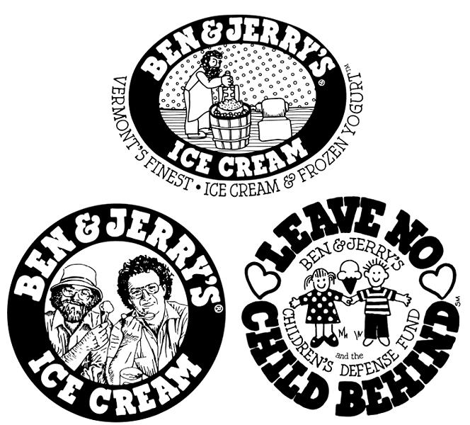 Early Ben & Jerry's logos - HARVEY|SEVERANCE