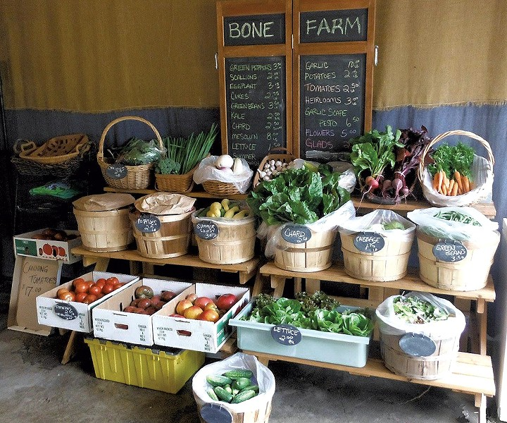 Bone Farm display at My Farmers Market