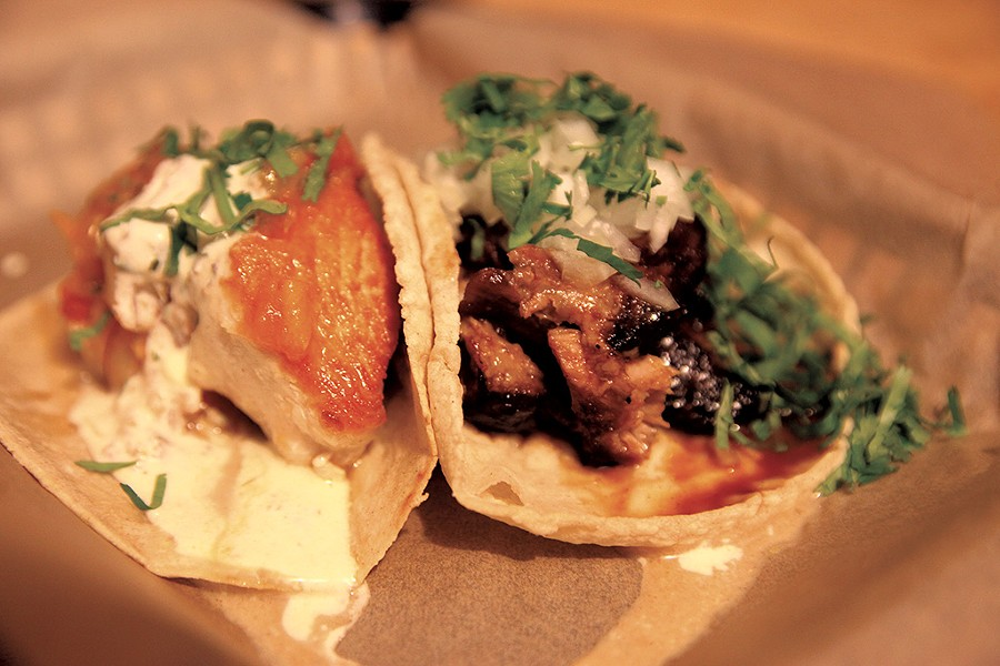 Fish and pork tacos at Tortilla - MATTHEW THORSEN