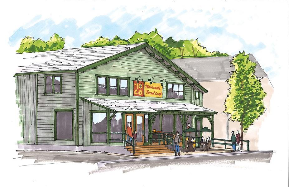 Morrisville Food Co-op rendering