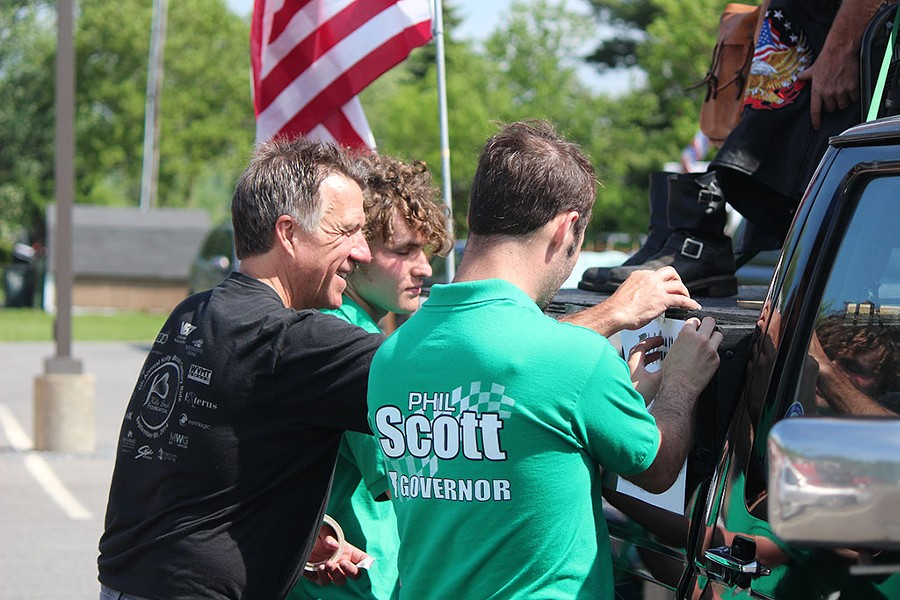 Lt. Gov. Phil Scott prepares for Vergennes' Memorial Day Parade on Monday - PAUL HEINTZ