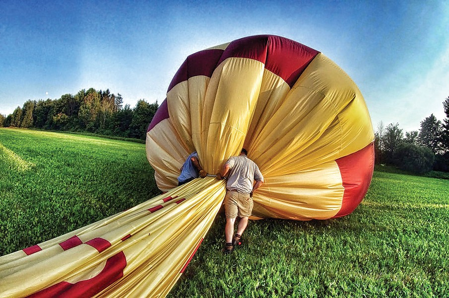 Breaking down the balloon - STEPHEN MEASE