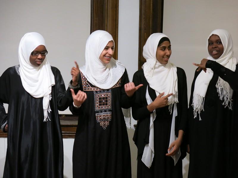 From left: Hawa Adam, Lena Ginawi, Kiran Waqar and Balkisa Abdikadir - COURTESY OF YOUNG WRITERS PROJECT