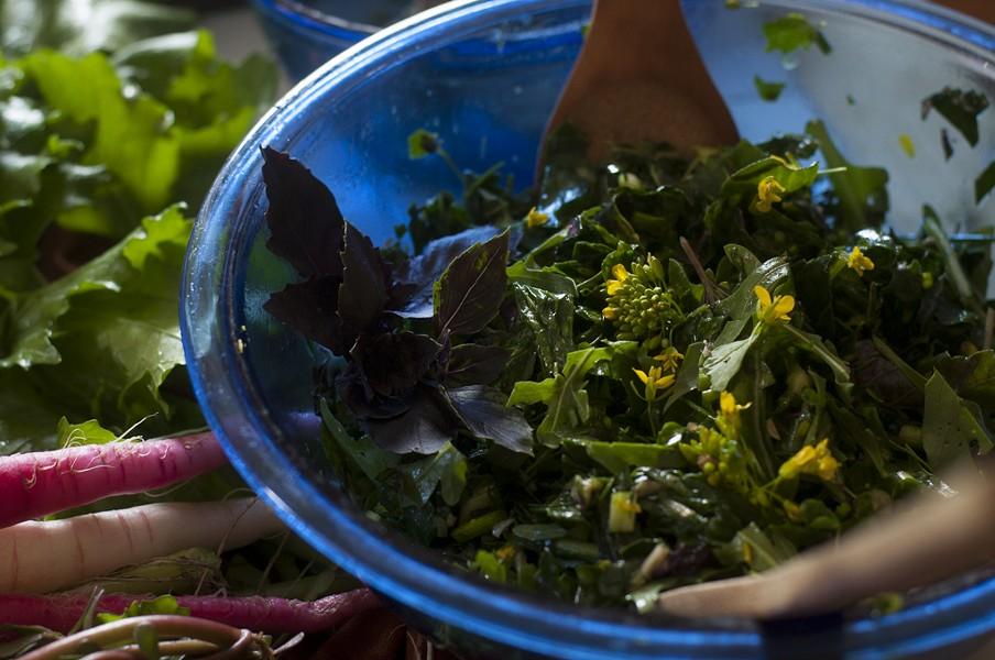 Kale salad - HANNAH PALMER EGAN