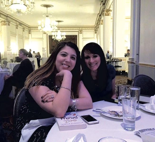 Abby Ledoux and Courtney Lamdin at the NENPA awards - PAULA ROUTLY