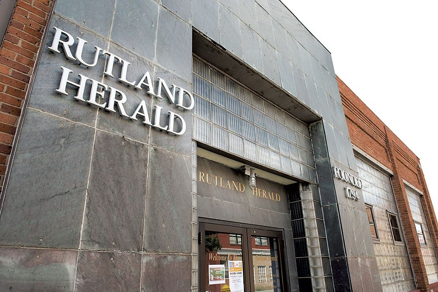 The headquarters of the Rutland Herald - FILE: CALEB KENNA