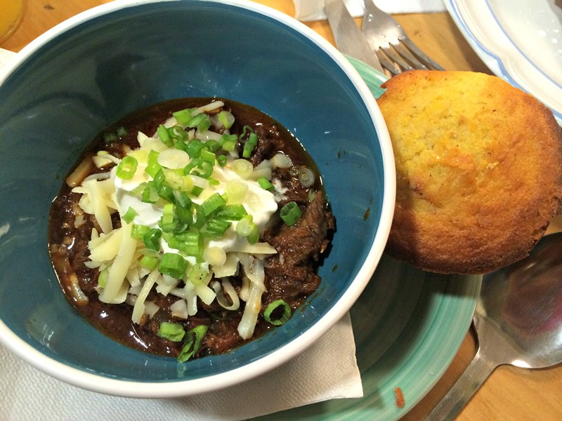 Chili with cornbread - ALICE LEVITT