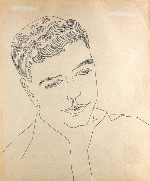 """Untitled (Portrait of a Young Man)"" by Andy Warhol - COURTESY OF FLEMING MUSEUM OF ART"