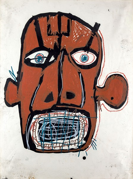 """Untitled (Head)"" by Jean-Michel Basquiat - COURTESY OF FLEMING MUSEUM OF ART"