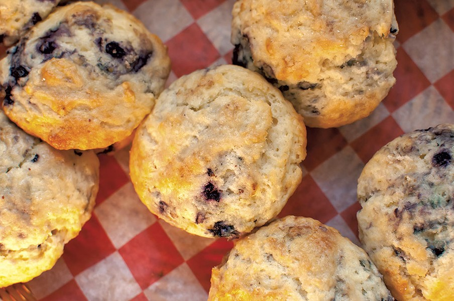 Blueberry muffins at the Warren Store - BROOKE WILCOX