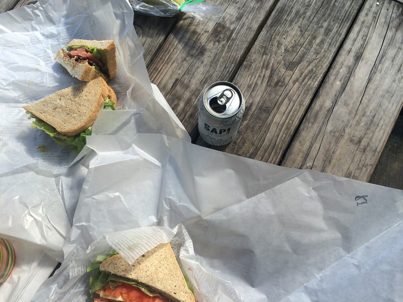 Sandwiches on the patio at the Warren Store - JULIA CLANCY