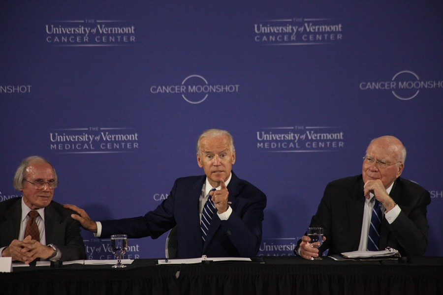 Vice President Joe Biden speaks Friday morning at the University of Vermont. - MATTHEW THORSEN