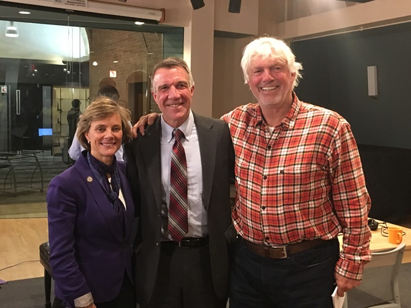 Sue Minter, Phil Scott and Bill Lee at a Vermont Public Radio debate Thursday in Colchester - FILE: PAUL HEINTZ