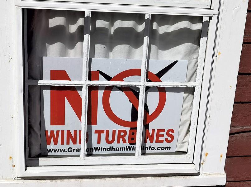 An anti-wind sign - TERRI HALLENBECK