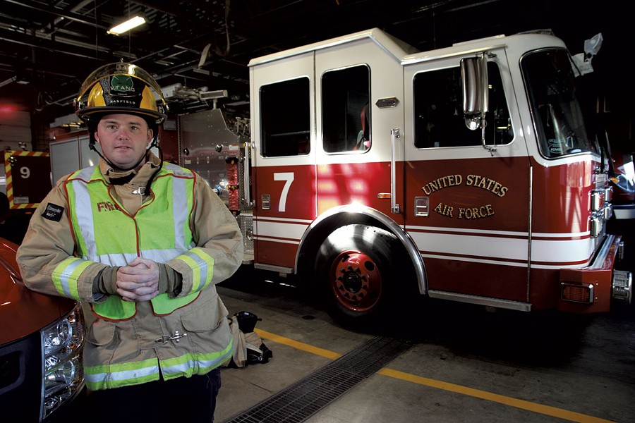 Kevin Maxfield, firefighter and emergency medical technician, Vermont Air National Guard - MATTHEW THORSEN