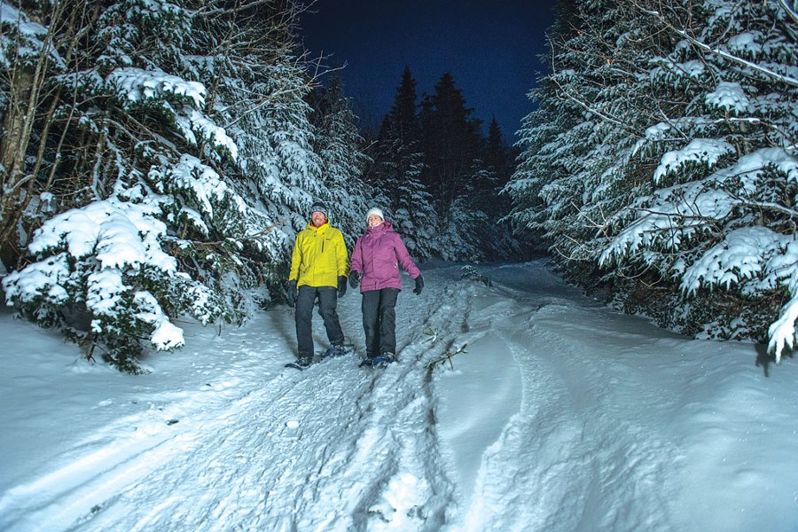 Snowshoeing at Smugglers' Notch Resort - PHOTOS COURTESY OF SMUGGLERS' NOTCH RESORT