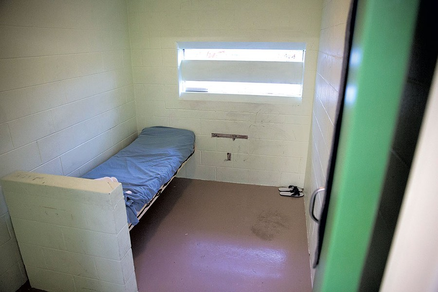 A resident's room at the Woodside Juvenile Rehabilitation Center - JAMES BUCK